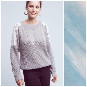 Anthropologie Moth Lace Darmon Pullover Sweater